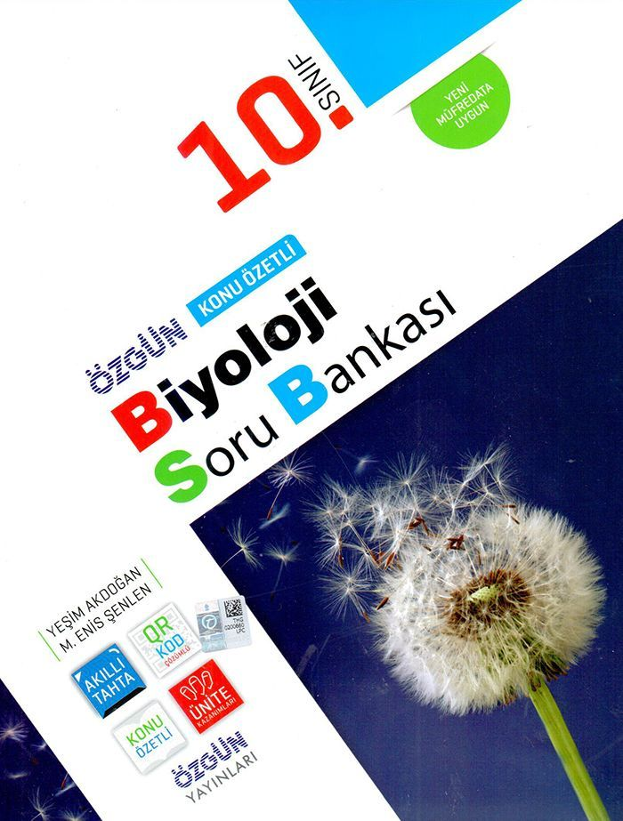 Özgün Yayınları 10. Sınıf Biyoloji Konu Özetli Soru Bankası