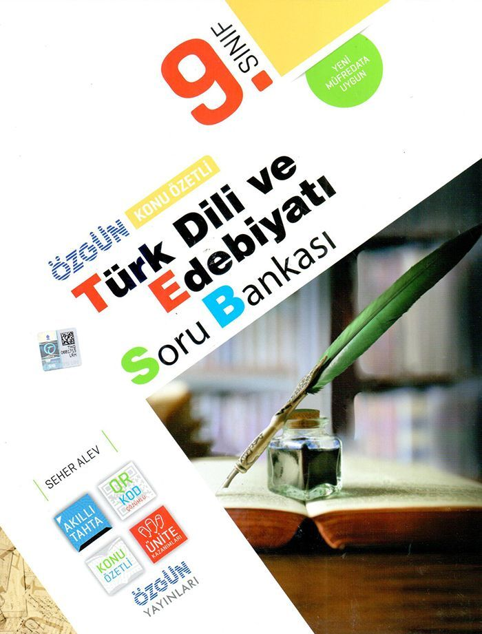 Özgün Yayınları 9. Sınıf Türk Dili ve Edebiyatı Konu Özetli Soru Bankası