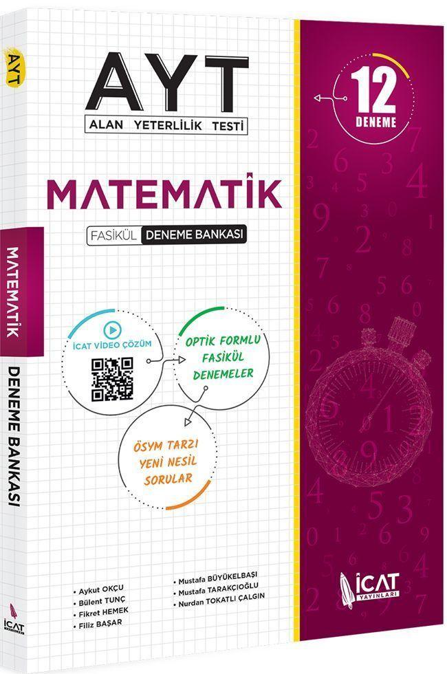 İcat Yayınları AYT Matematik 12 li Fasikül Deneme Bankası