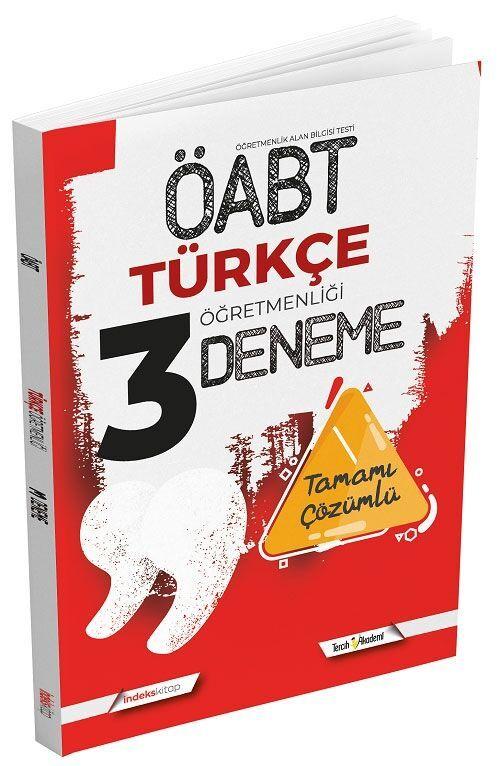 İndeks Kitap ÖABT Türkçe Öğretmenliği 3 Deneme