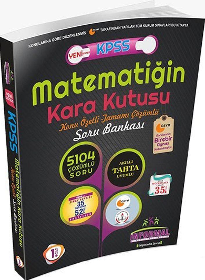 İnformal Yayınları KPSS Matematiğin Kara Kutusu Konu Özetli Tamamı Çözümlü Soru Bankası1. Cilt