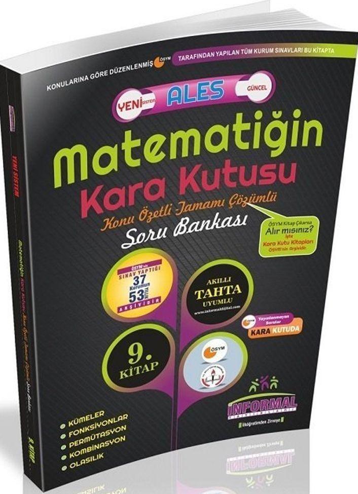 İnformal Yayınları ALES Matematiğin Kara Kutusu Konu Özetli Tamamı Çözümlü Soru Bankası 9. Kitap