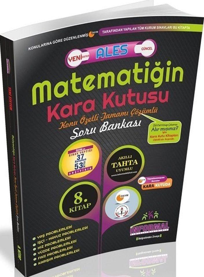 İnformal Yayınları ALES Matematiğin Kara Kutusu Konu Özetli Tamamı Çözümlü Soru Bankası 8. Kitap