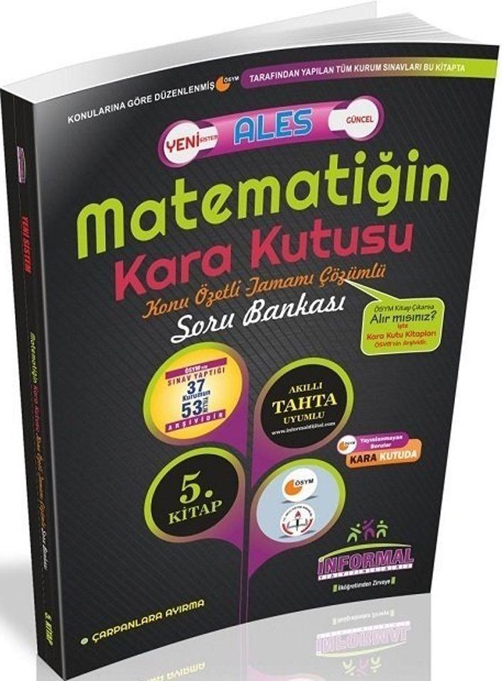 İnformal Yayınları ALES Matematiğin Kara Kutusu Konu Özetli Tamamı Çözümlü Soru Bankası 5. Kitap