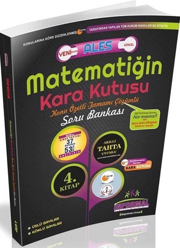 İnformal Yayınları ALES Matematiğin Kara Kutusu Konu Özetli Tamamı Çözümlü Soru Bankası 4. Kitap