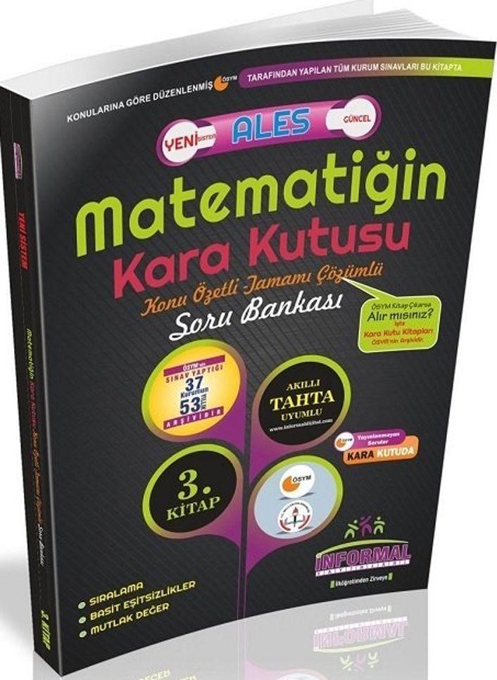İnformal Yayınları ALES Matematiğin Kara Kutusu Konu Özetli Tamamı Çözümlü Soru Bankası 3. Kitap