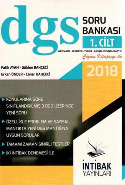 İntibak Yayınları 2018 DGS Soru Bankası 1. Cilt Çözüm Kitapçığı ile