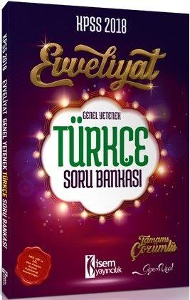 Isem Yayıncılık 2018 Kpss Evveliyat Genel Yetenek Türkçe Soru Bankası