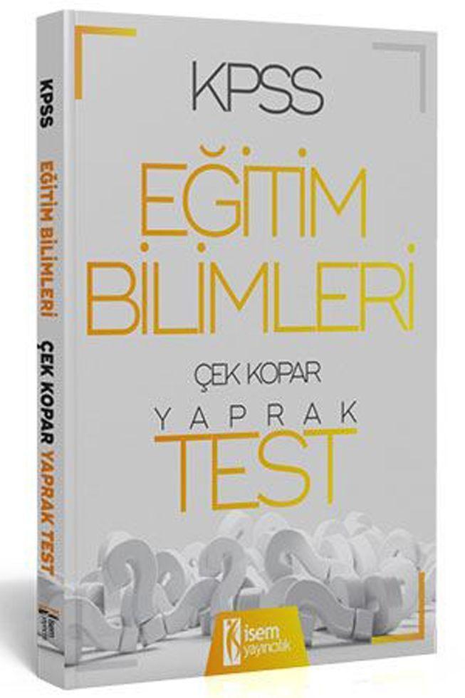 İsem Yayınları 2020 KPSS Eğitim Bilimleri Çek Kopar Yaprak Test
