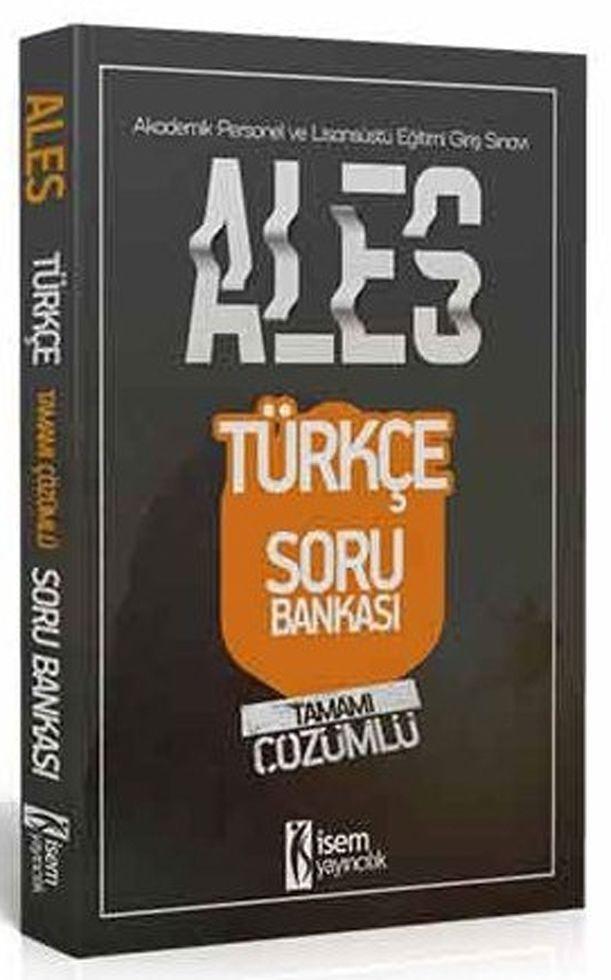 İsem Yayınları ALES Türkçe Sözel Yetenek Tamamı Çözümlü Soru Bankası
