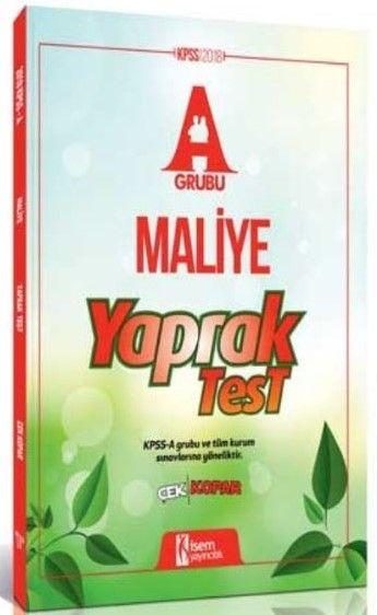 İsem Yayınları 2018 KPSS A Grubu Maliye Çek Kopar Yaprak Test