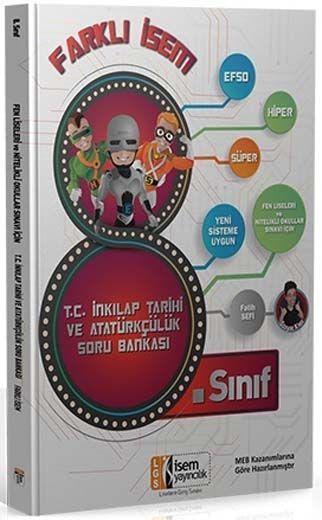 İsem Yayınları 8. Sınıf T. C. İnkılap Tarihi ve Atatürkçülük Farklı İsem Soru Bankası