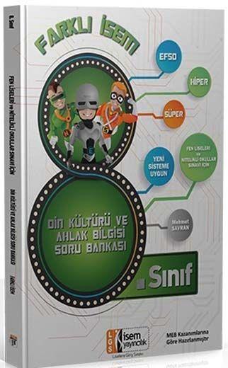 İsem Yayınları 8. Sınıf Din Kültürü ve Ahlak Bilgisi Farklı İsem Soru Bankası