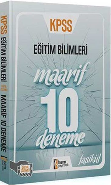 İsem Yayınları Eğitim Bilimleri Maarif 10 Deneme
