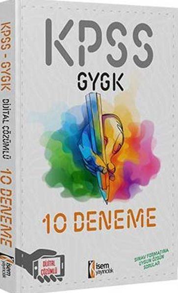 İsem Yayınları KPSS GY GK 10 Deneme