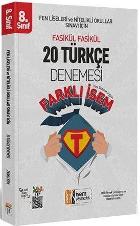 İsem Yayınları 8. Sınıf LGS  Türkçe Farklı İsem 20 Deneme