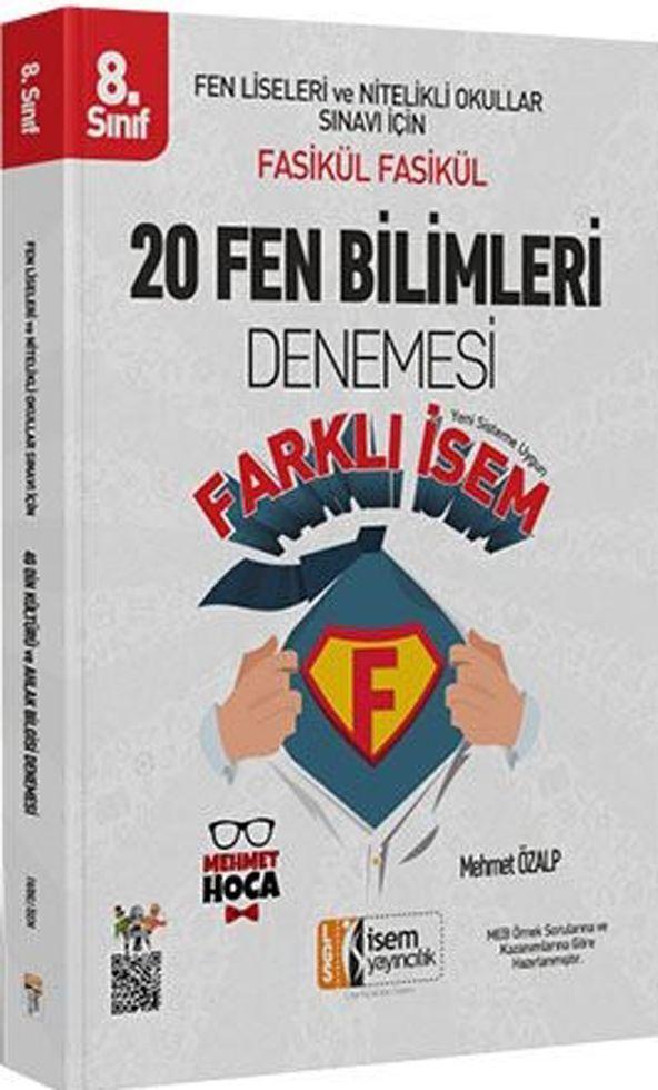 İsem Yayınları 8. Sınıf Fen Bilimleri Farklı İsem 20 Denemesi