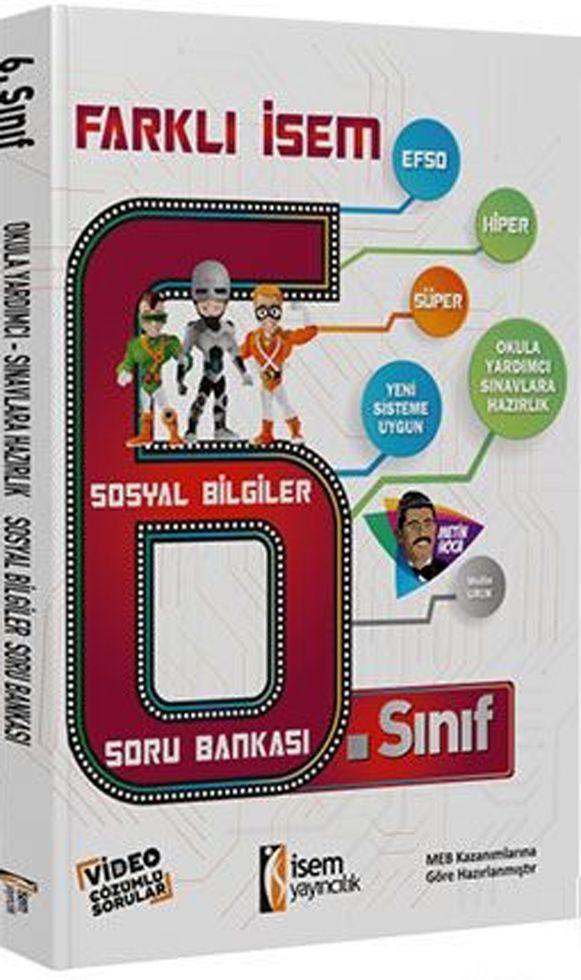 İsem Yayınları 6. Sınıf Sosyal Bilgiler Farklı İsem Soru Bankası