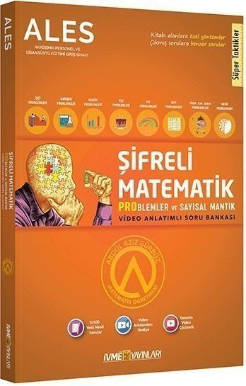 İvme Yayınları ALES Şifreli Matematik Problemler ve Sayısal Mantık Tamamı Pratik Çözümlü Soru Bankası