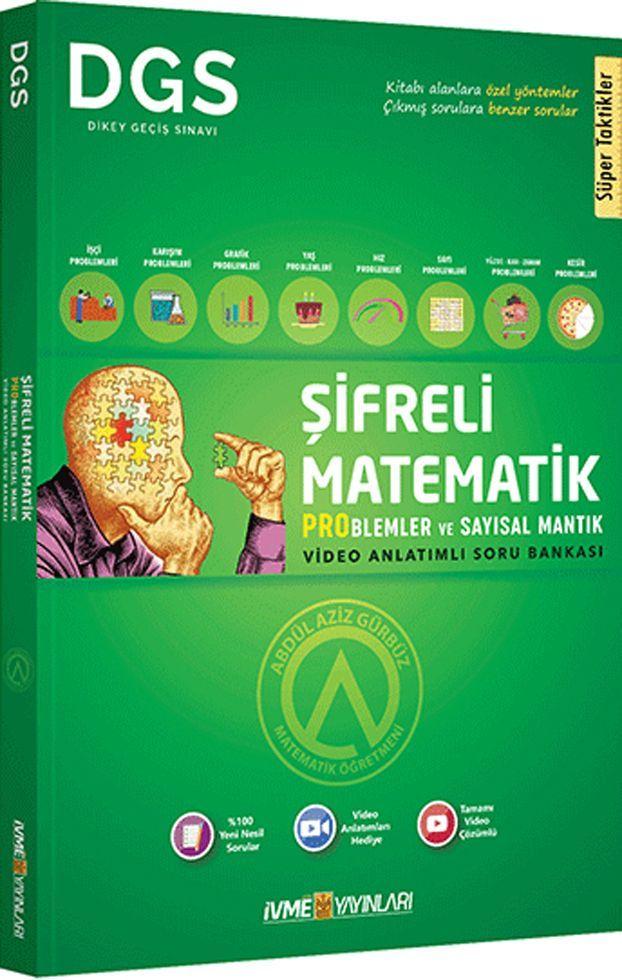 İvme Yayınları DGS Şifreli Matematik Problemler ve Sayısal Mantık Video Anlatımlı Soru Bankası