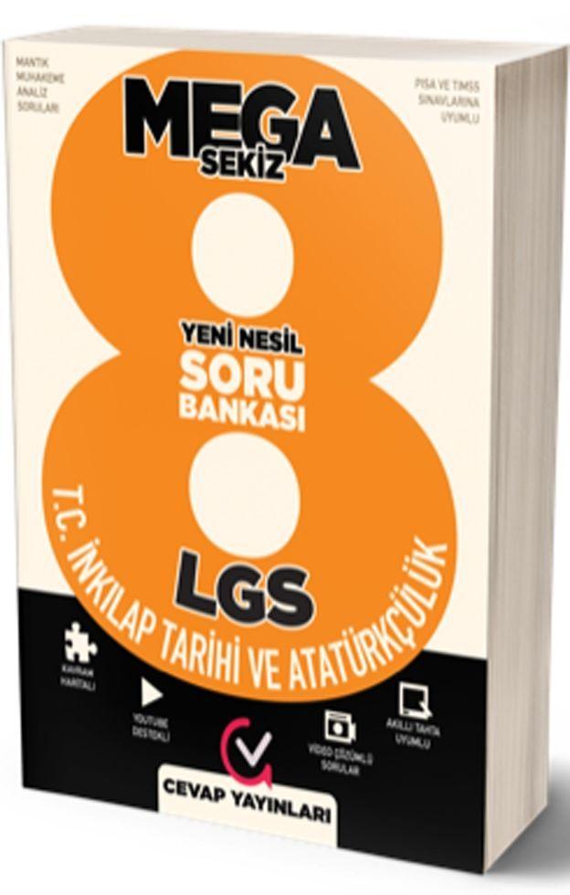 Cevap Yayınları 8. Sınıf LGS MEGA 8 T.C. İnkılap Tarihi ve Atatürkçülük Soru Bankası