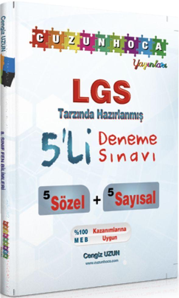 Cuzun Hoca Yayınları 8. Sınıf LGS Tarzında Hazırlanmış 5 li Deneme Sınavı