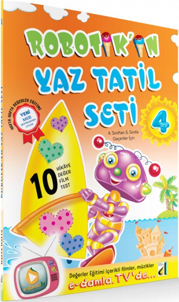 Damla Yayınları 4. Sınıf Robotikin Yaz Tatil Seti
