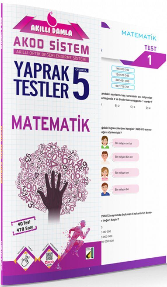 Damla Yayınları 5. Sınıf Matematik Akıllı Damla Yaprak Testi