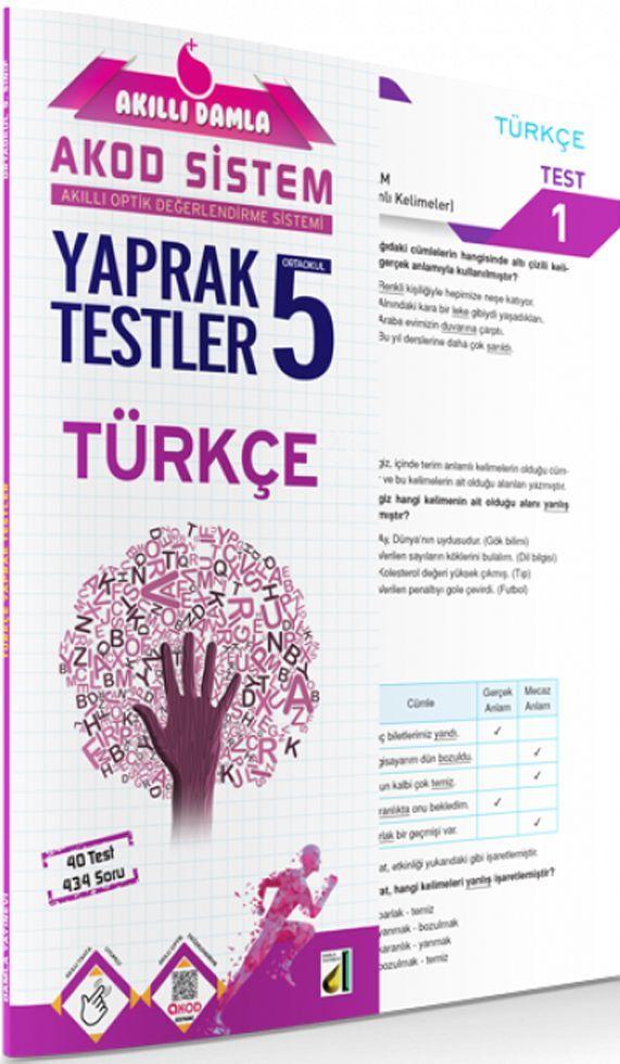 Damla Yayınları 5. Sınıf Türkçe Akıllı Damla Yaprak Testi