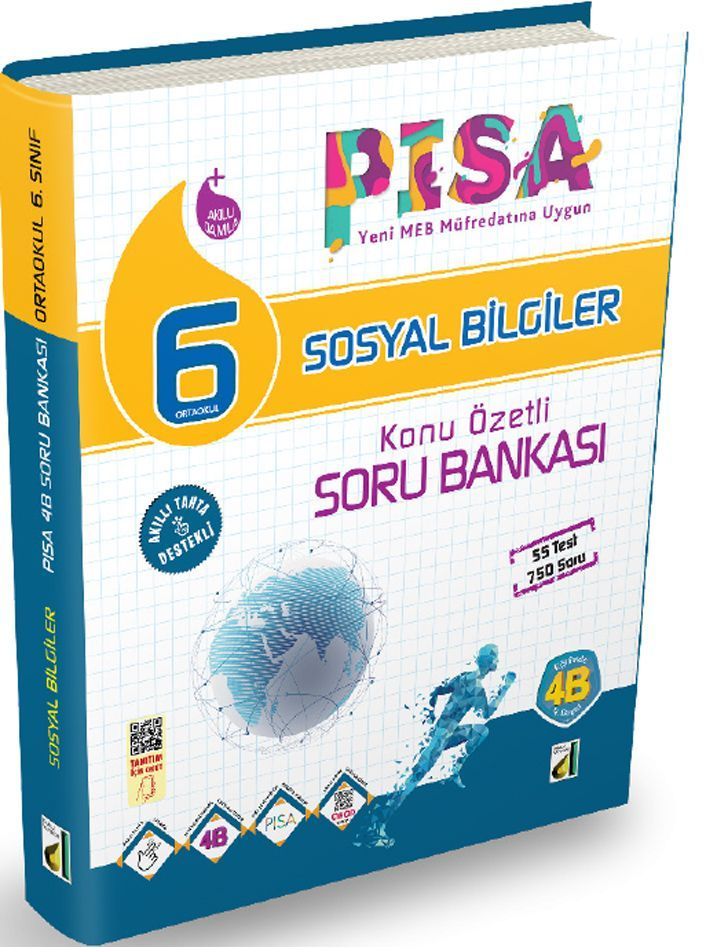 Damla Yayınları 6. Sınıf PISA Sosyal Bilgiler Konu Özetli Soru Bankası