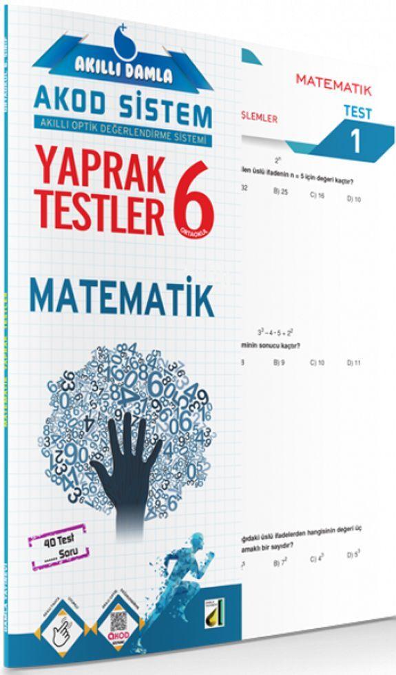 Damla Yayınları 6. Sınıf Matematik Akıllı Damla Yaprak Testi