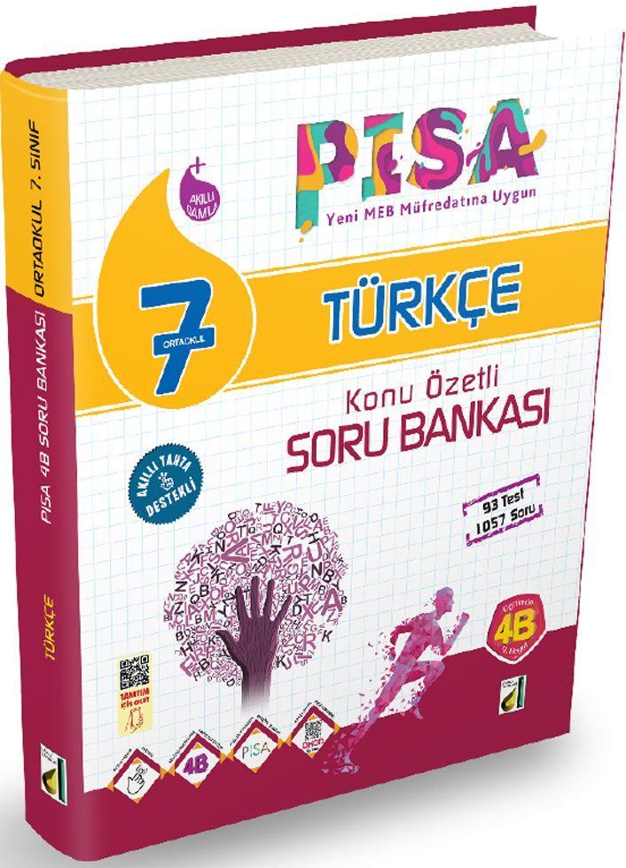 Damla Yayınları 7. Sınıf PISA Türkçe Konu Özetli Soru Bankası