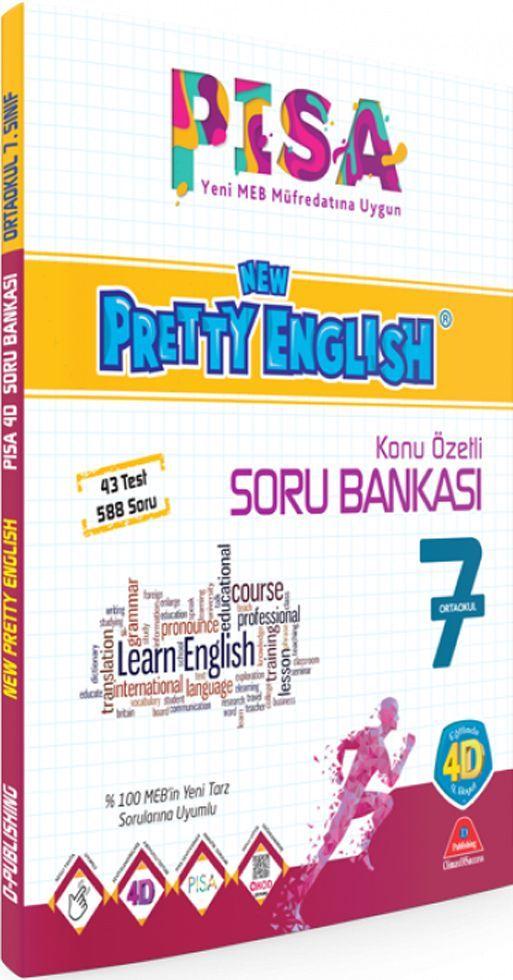 Damla Yayınları 7. Sınıf PISA New Pretty English Konu Özetli Soru Bankası