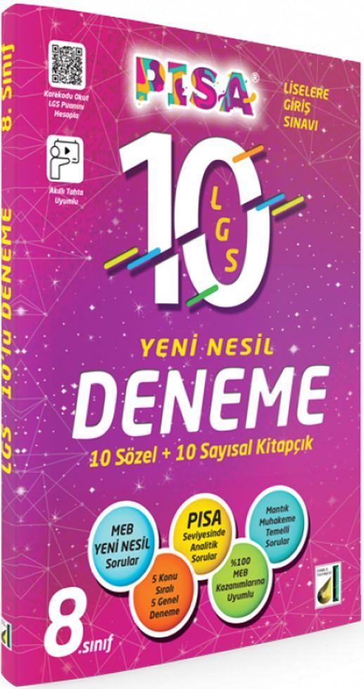 Damla Yayınları 8. Sınıf LGS PISA Yeni Nesil 10 Deneme