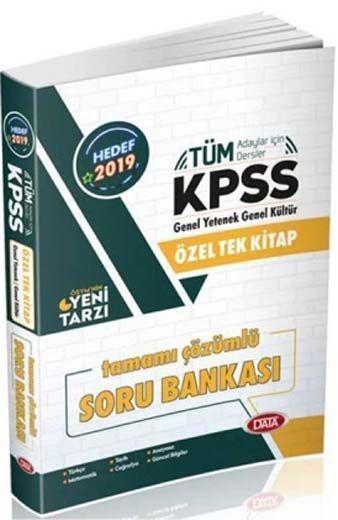 Data Yayınları 2019 KPSS GY GK Özel Tek Kitap Tamamı Çözümlü Soru Bankası