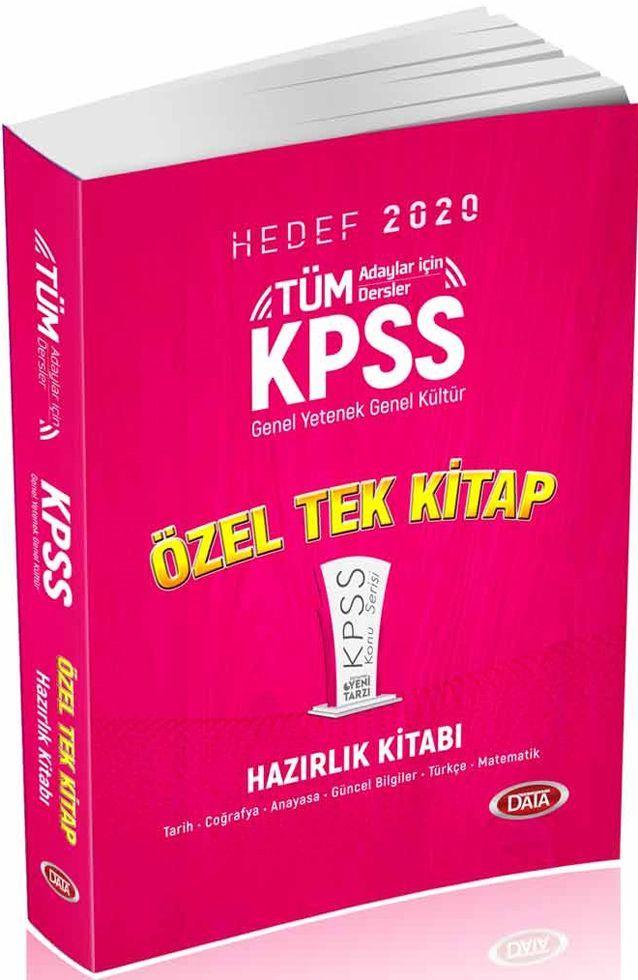Data Yayınları 2020 KPSS Genel Yetenek Genel Kültür Özel Tek Kitap Hazırlık Kitabı