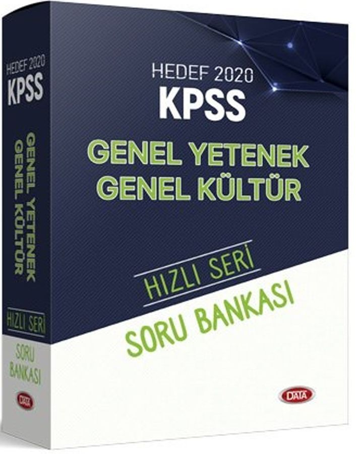 Data Yayınları 2020 KPSS Genel Yetenek Genel Kültür Hızlı Seri Soru Bankası Seti