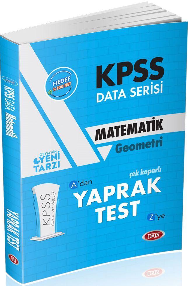 Data Yayınları KPSS Matematik Geometri Çek Koparlı Yaprak Test Adan Zye