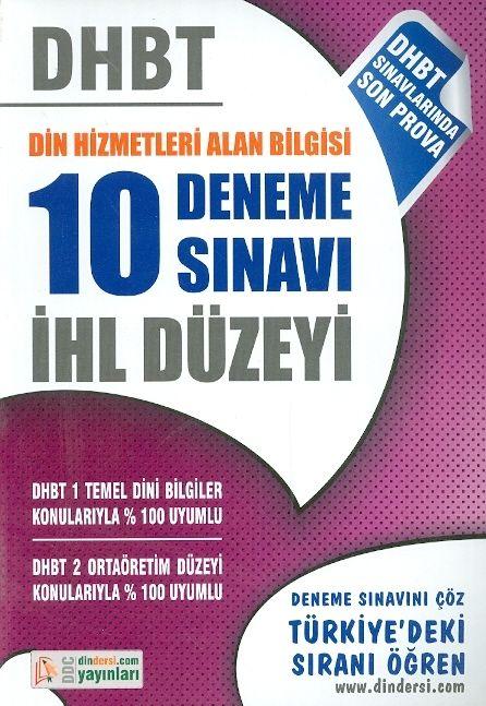 DDC Yayınları DHBT Din Hizmetleri Alan Bilgisi 10 Deneme Sınavı İHL Düzeyi