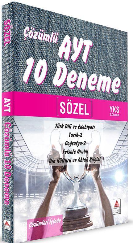 Delta Kültür Yayınları AYT Sözel Çözümlü 10 Deneme