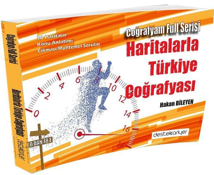 Destek Kariyer Yayınları 0 dan 18 e Haritalarla Türkiye Coğrafyası Coğrafyam Full Serisi
