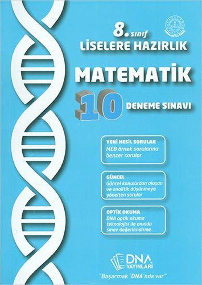 DNA Yayınları 8. Sınıf Matematik 10 Deneme Sınavı