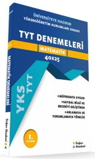 Doğan Akademi TYT Matematik 40 x 25 Denemeleri