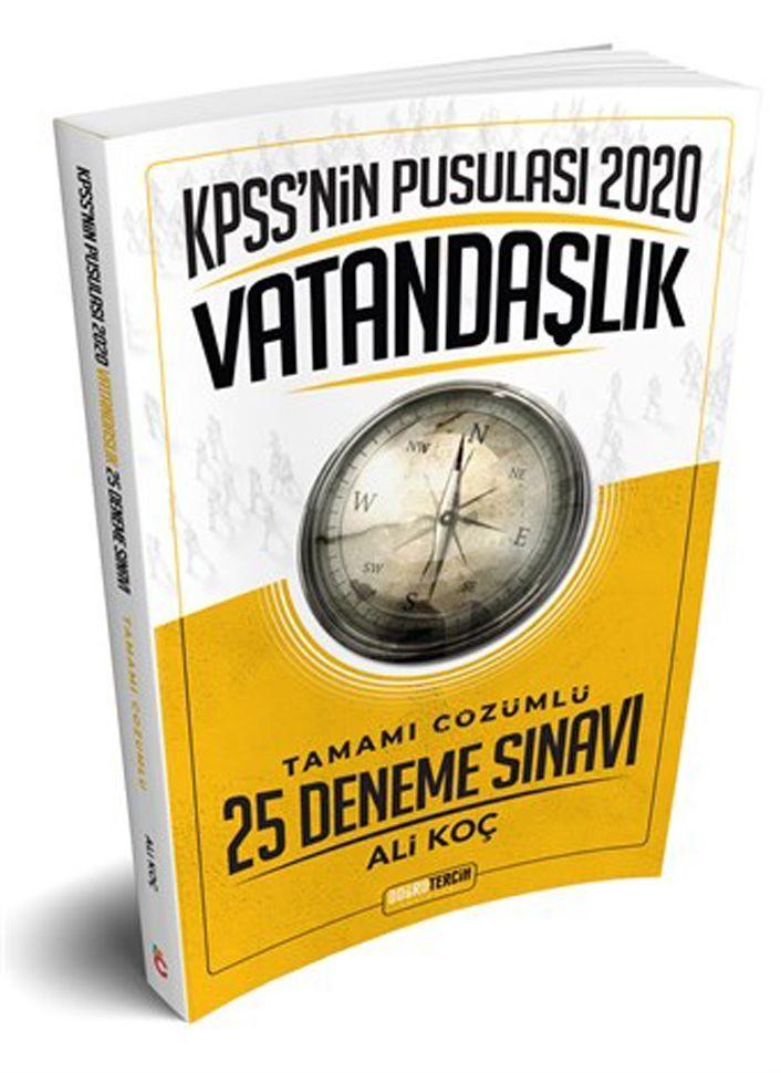 Doğru Tercih Yayınları 2020 KPSSnin Pusulası Vatandaşlık 25 Deneme Sınavı
