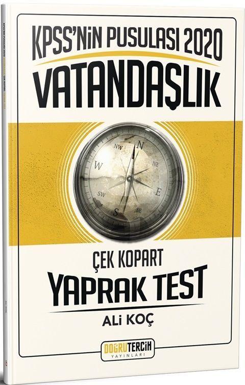 Doğru Tercih Yayınları2020 KPSS\'NİN Pusulası Vatandaşlık Yaprak Test