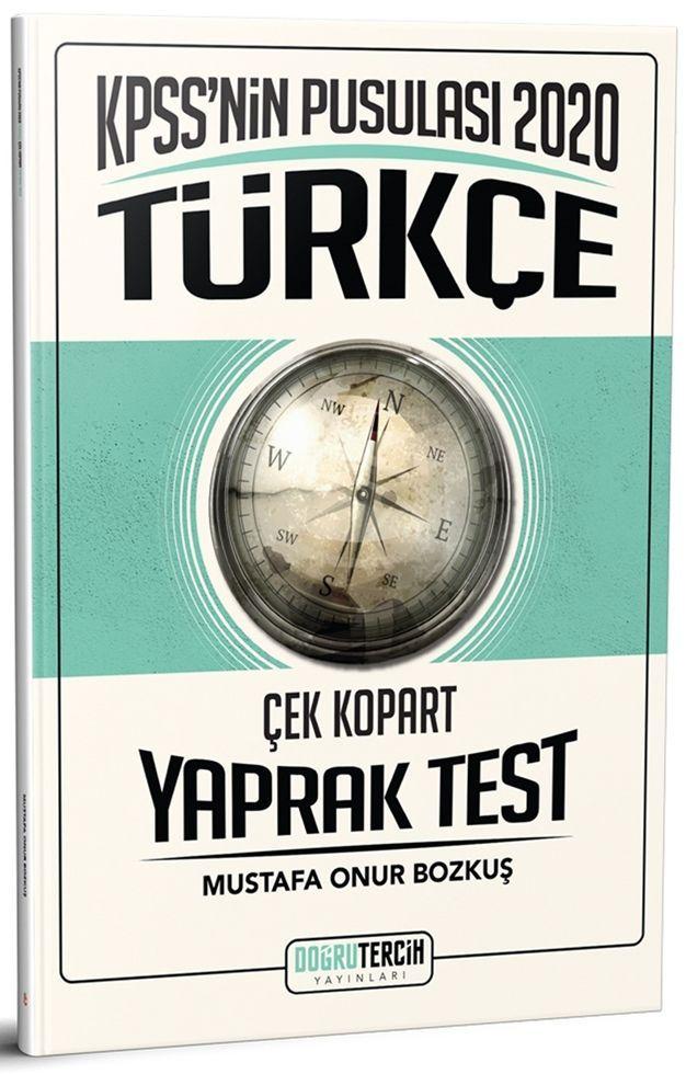 Doğru Tercih Yayınları 2020 KPSS nin Pusulası Türkçe Çek Kopart Yaprak Test