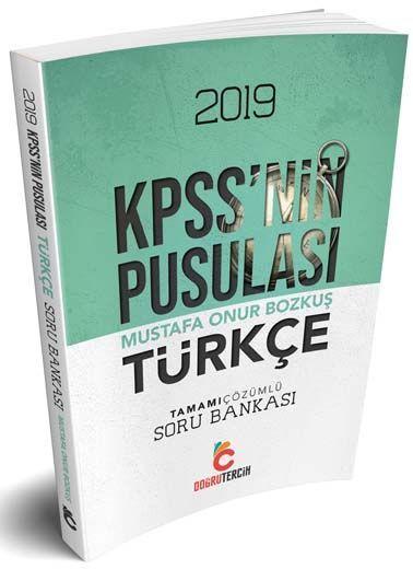 Doğru Tercih Yayınları 2019 KPSS nin Pusulası Türkçe Soru Bankası