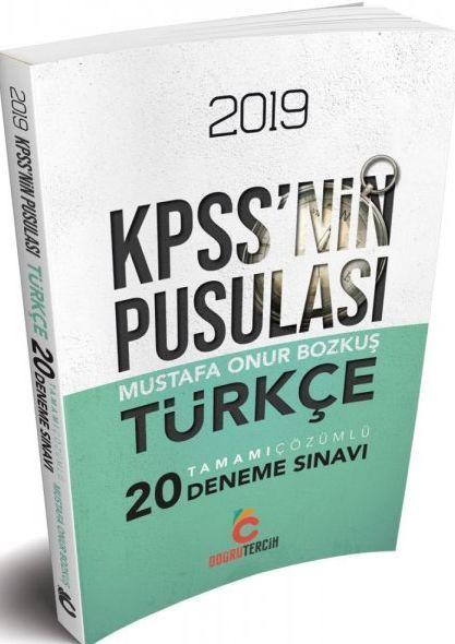 Doğru Tercih Yayınları 2019 KPSS nin Pusulası Türkçe 20 Deneme Sınavı