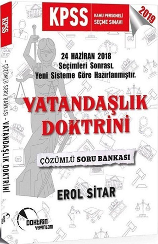 Doktrin Yayınları 2019 KPSS Vatandaşlık Doktrini Çözümlü Soru Bankası