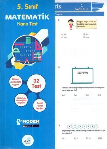 Dorya Yayınları 5. Sınıf Matematik Nano Test